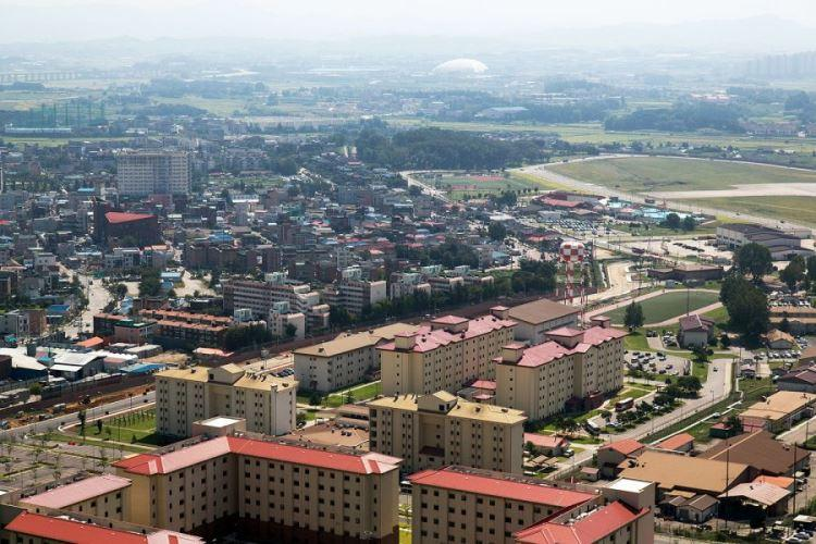 Camp Humphreys, the Army's sprawling garrison south of Seoul, as seen in 2018. (MARCUS FICHTL/STARS AND STRIPES)