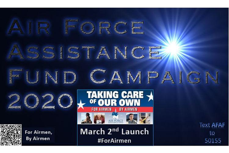 The 2020 Air Force Assistance Fund campaign is from March 2 through April 10. (U.S. Air Force Courtesy graphic)