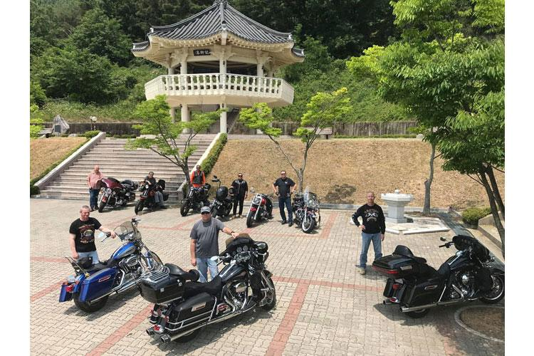 Motorcycle riders stationed at USAG Daegu and Area IV participated in the 19th Expeditionary Sustainment Command's Motorcycle Mentorship Program Safety Ride June 5.  (Photo Credit: Cameron Porter)
