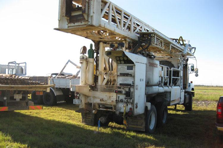FED's only water well drill rig. In July, a brand new rig will join the fleet.