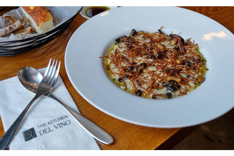 The Mushroom Cream Risotto at The Kitchen Del Vino in Pyeongtaek, South Korea. (MATTHEW KEELER/STARS AND STRIPES)