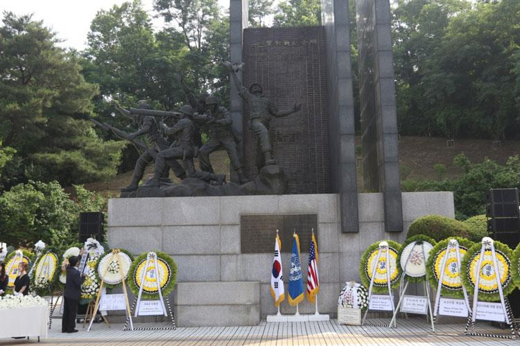 The Jukmiryeong U.N. Forces First Battle Memorial in Osan, South Korea, was the site of the 69th Task Force Smith Memorial Ceremony held July 3. The ceremony commemorates the first battle in Korea involving United Nations forces, which occurred July 5, 1950. (U.S. Army photo by Private Second Class Jun-Woong Sung)