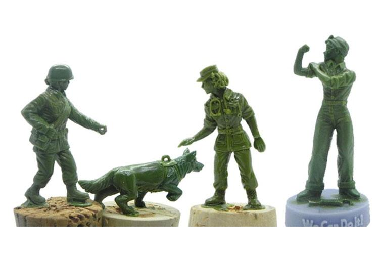 Early sculpts of the military working dog handler, dog, nurse and Rosie the Riveter figures, to be released with a line of crowd-funded plastic army women from BMC Toys are pictured here.  BMC TOYS
