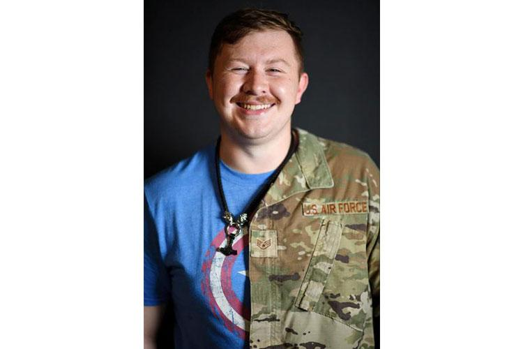 U.S. Air Force Staff Sgt. Foster Conner poses for a photo at Kunsan Air Base, Republic of Korea, June 11, 2021. Conner struggled with familial controversy regarding his sexual orientation when he lived at home, now in the Air Force, he shares how he has finally found community and acceptance.(U.S. Air Force photo by Staff Sgt. Mya Crosby)