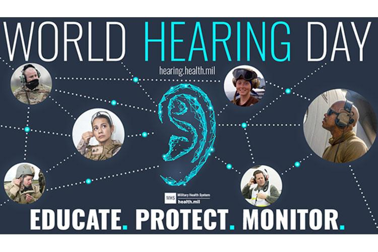 The Defense Health Agency is one of many healthcare entities celebrating World Hearing Day on March 3. (Courtesy of the Defense Health Agency's Hearing Center of Excellence)