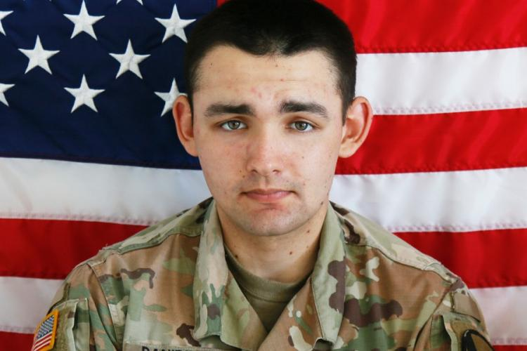 Spc. Nicholas C. Panipinto, 20,died on Nov. 6, 2019, from injuries sustained when a Bradley Fighting Vehicle overturned at Camp Humphreys. U.S. ARMY