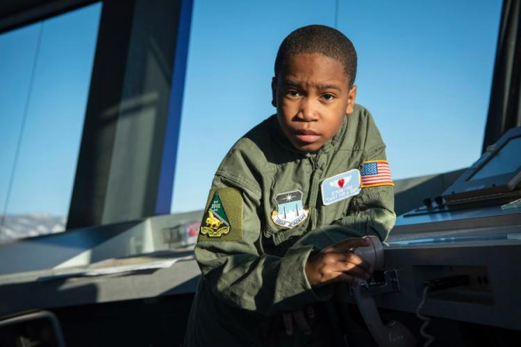 The Air Force Academy's Cadet for a Day program, in partnership with the Make-A-Wish Foundation, hosts 9-year-old Je?Moni Ford and his family, Friday, March 15, 2019. Je?Moni was diagnosed with a rare form of cancer in 2017 and endured six surgeries to remove the cancer and reconstruct his hand. JOSHUA ARMSTRONG/U.S. AIR FORCE