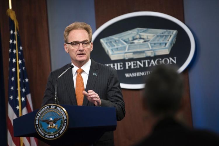 Acting Secretary of the Navy Thomas Modly speaks during a press briefing at the Pentagon, April 2, 2020. LISA FERDINANDO/DEFENSE DEPARTME