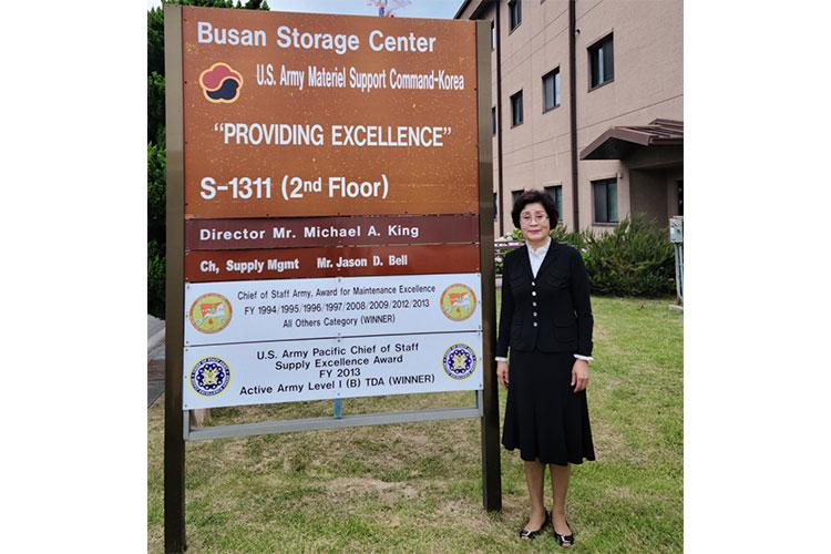 Kim In Suk is a supply system analyst who has worked at Busan Storage Center since 1970. Photo by Sgt. 1st Class Adam Ross