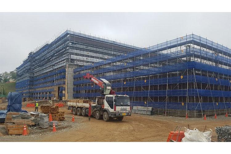 The Defense Logistics Agency (DLA) warehouse construction project, Camp Carroll, South Korea.