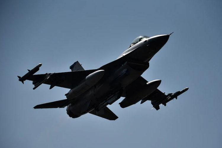 An F-16 Fighting Falcon takes off from Kunsan Air Base, Republic of Korea, Mar. 5, 2021. Many of the F-16 pilots assigned to the 8th Fighter Wing will participate in a verification process to ensure they are prepared for combat. (U.S. Air Force Photo by Senior Airman Mya M. Crosby)