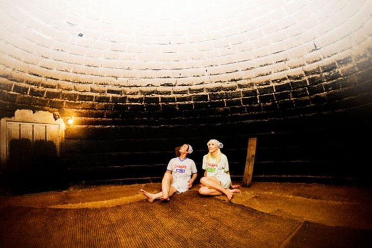 Firewood sauna at Dragon Hill Spa