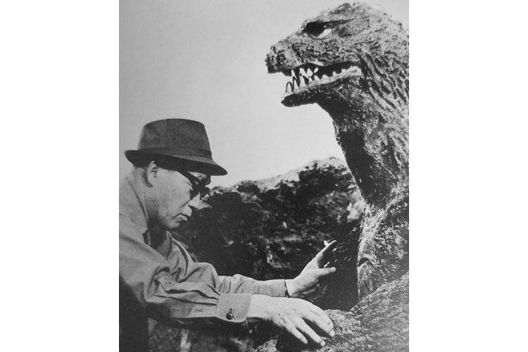 Eiji Tsuburaya mentoring actor Haruo Nakajima King Kong vs Godzilla. (Photos courtesy of TM&© Toho Co., LTD; © Tsuburaya Productions; © Eiji Project)