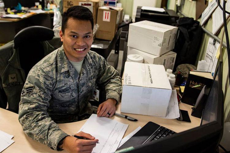 SrA Jules Mendoza, 8th MDG medical logistics technician