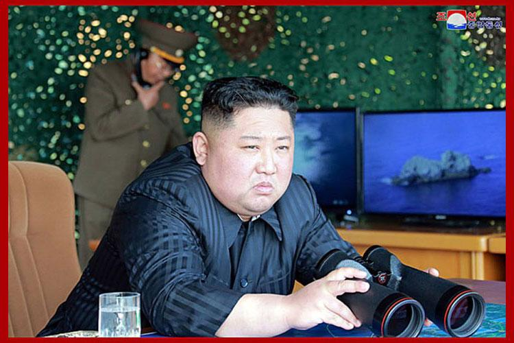 North Korean leader Kim Jong Un observed a live-fire drill Saturday in the east coast town of Wonsan. (COURTESY OF KCNA)