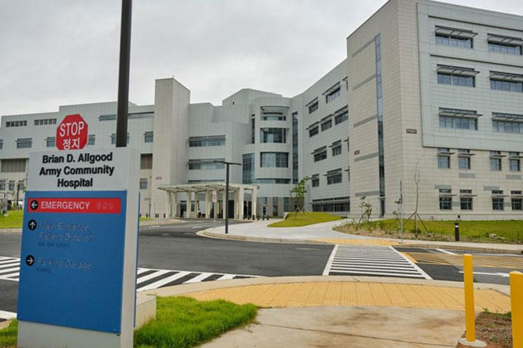 The Brian D. Allgood Army Community Hospital was officially transferred to the U.S. government during a ceremony at Camp Humphreys, South Korea, Wednesday, July 24, 2019. (MATTHEW KEELER/STARS AND STRIPES)
