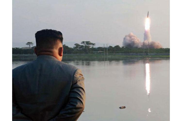 North Korean leader Kim Jong Un watches a missile launch in this undated photo released by the Korean Central News Agency, Friday, July 26, 2019. (KCNA)