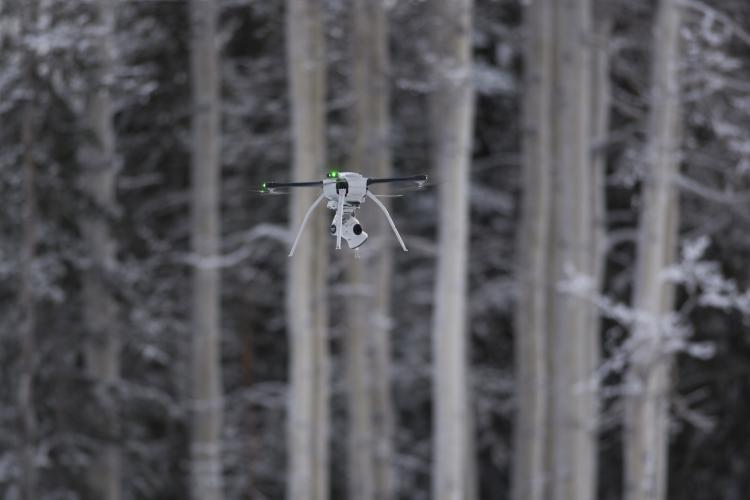 U.S. Air Force civil engineers fly a Small Unmanned Aircraft System during a newly adopted Rapid Airfield Damage Assessment System training course at Joint Base Elmendorf-Richardson, Ala., Jan. 23, 2019. Throughout the first week of training, Airmen focused on learning to fly the SUAS. During the second week, they learned to fly the RADAS mission while using the SUAS systems. (Photo by Airman 1st Class Crystal A. Jenkins)