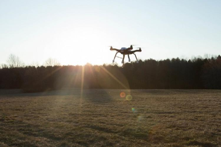 A drone lifts off during the Hive Final Mile demonstration on Marine Corps Base Quantico, Virginia. Drones are one of the autonomous technologies that might soon be helping medics provide care for warfighters on distant battlefields. (U.S. Marine Corps photo by Sgt. Jacqueline A. Clifford)