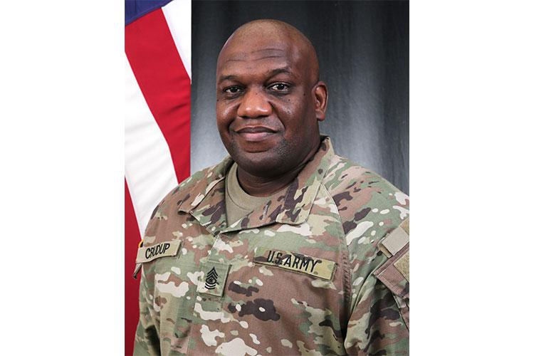 New Pacific Region's Senior Enlisted Advisor, Army Sgt. Maj. Wayne Crudup