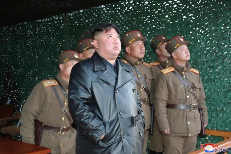 In this photo provided by the North Korean government, North Korean leader Kim Jong Un inspects military exercise at an undisclosed location in North Korea on Saturday, March 21, 2020. KOREAN CENTRAL NEWS AGENCY,KOREA NEWS SERVICE/ AP