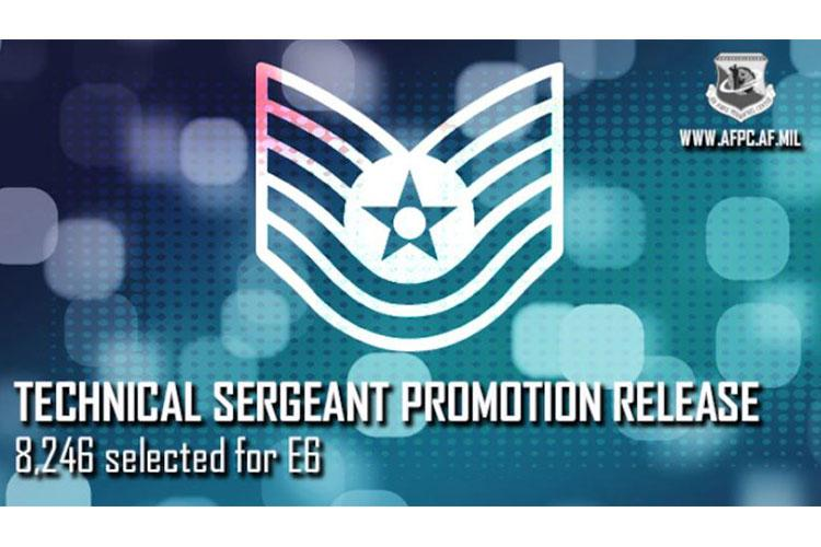 The U.S. Air Force released the 2020 technical sergeant promotion list August 24, 2020. Air Force-wide statistics are 8,246 staff sergeants were selected for promotion to technical sergeant out of 28,358 eligible resulting in a 29.08 percent selection rate. (Courtesy photo)
