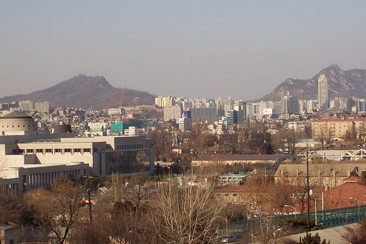 The view towards Seoul and Mt. Namsan from Dragon Hill Lodge at Yongsan in 2007. Photos by Charles T. Mitchell