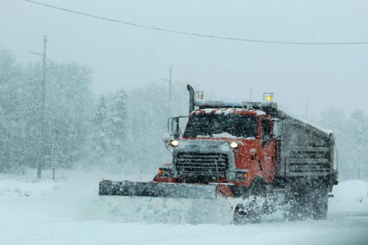 A heavy-equipment operator with Fort McCoy snow removal, drives a plow truck to move snow. Winter can be a hazardous time of year. Frigid temperatures and slick roads can be dangerous. (U.S. Army photo by Scott T. Sturkol)