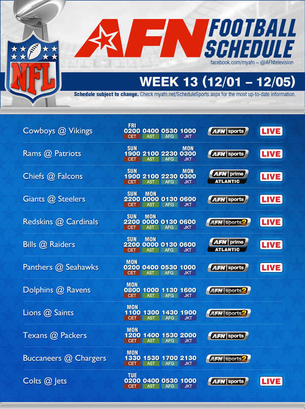 week 13 nfl schedule nfl protest