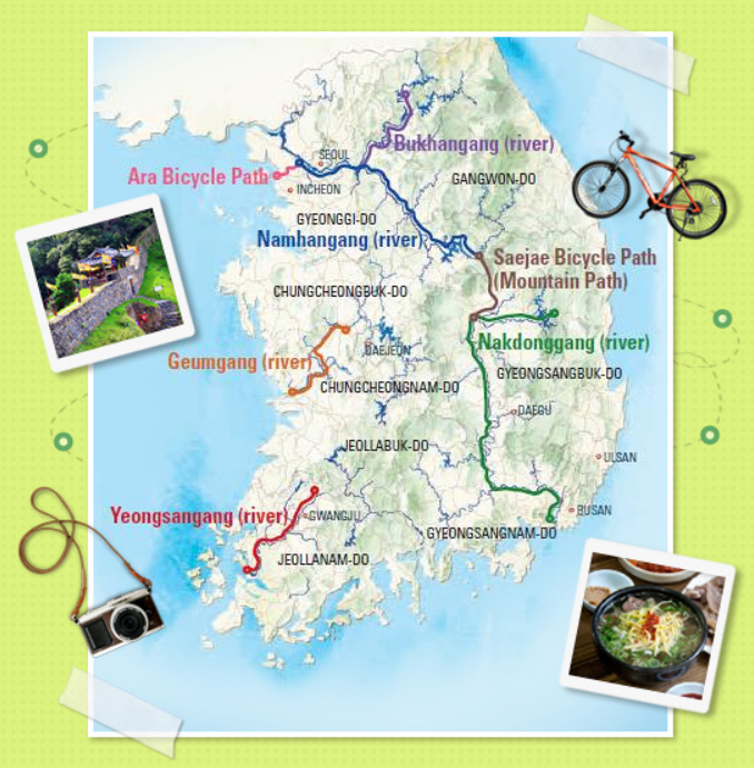 Cycling routes along the river in Korea | Stripes Korea on map of brazil rivers, map of southeast asia rivers, map of arizona rivers, map of japan rivers, map of canada rivers, map of mali rivers, map of iraq rivers, map of mexico rivers, map of france rivers, map of south asia rivers, map of united states rivers, map of spain rivers, map of eritrea rivers, map of azerbaijan rivers, map of trinidad and tobago rivers, map of germany rivers, map of mauritius rivers, map of vietnam rivers, map of algeria rivers, map of east asia rivers,