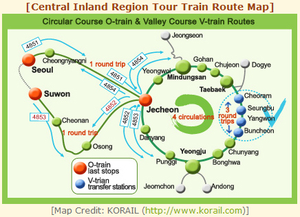 Explore Koreas striking inland region aboard a sightseeing train